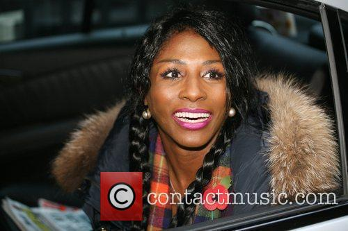 Sinitta leaving the London studios after appearing on...