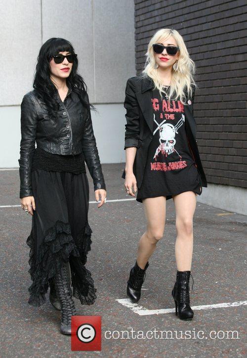 Lisa Origliasso and Jess Origliasso of the Veronicas...