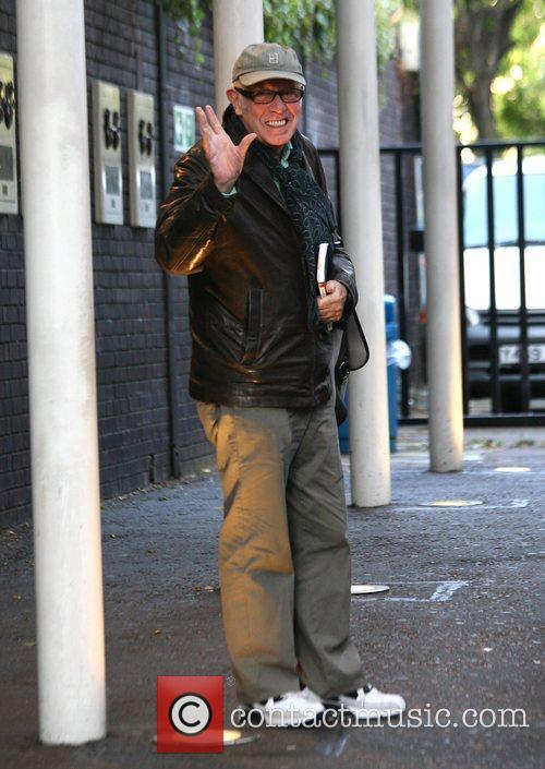 Richard Wilson outside the 'GMTV' studios London, England