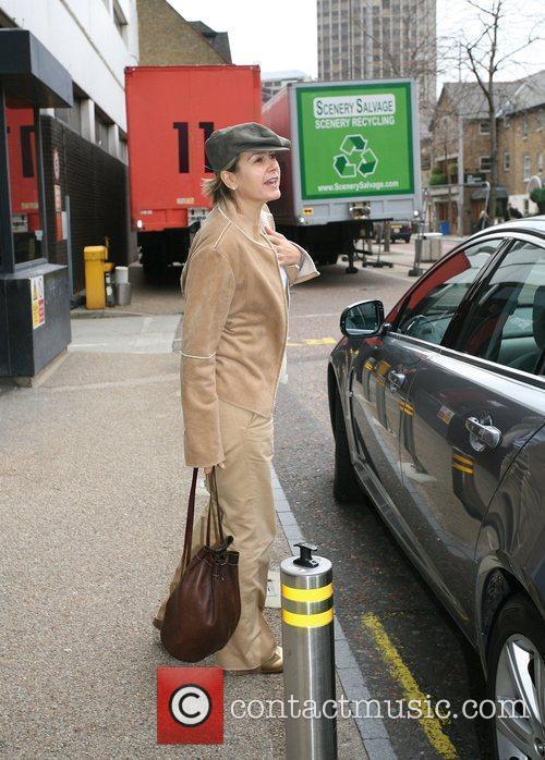 Penny Smith leaving the GMTV studios London, England
