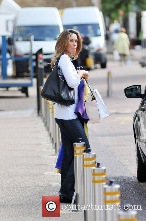 Emma Crosby Leaving the London studios after appearing...
