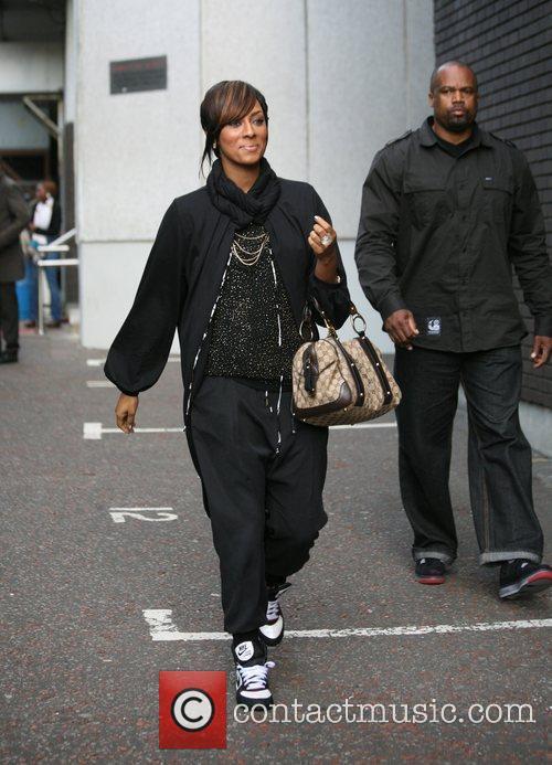 Kerri Hilson outside the 'GMTV' studios London, England...