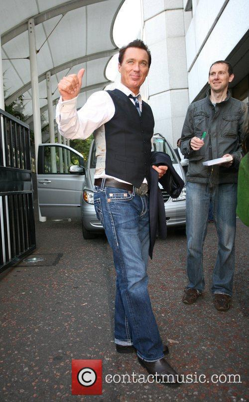 Martin Kemp of Spandau Ballet outside the 'GMTV'...