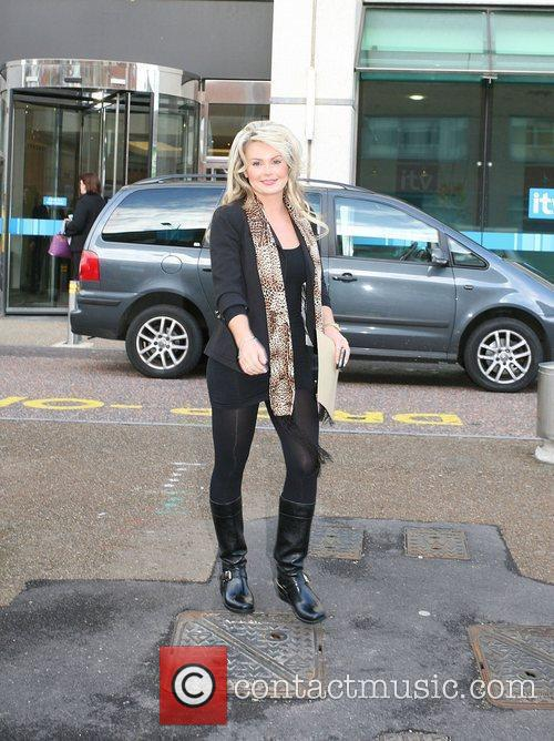Annie Cooper outside the GMTV studios London, England