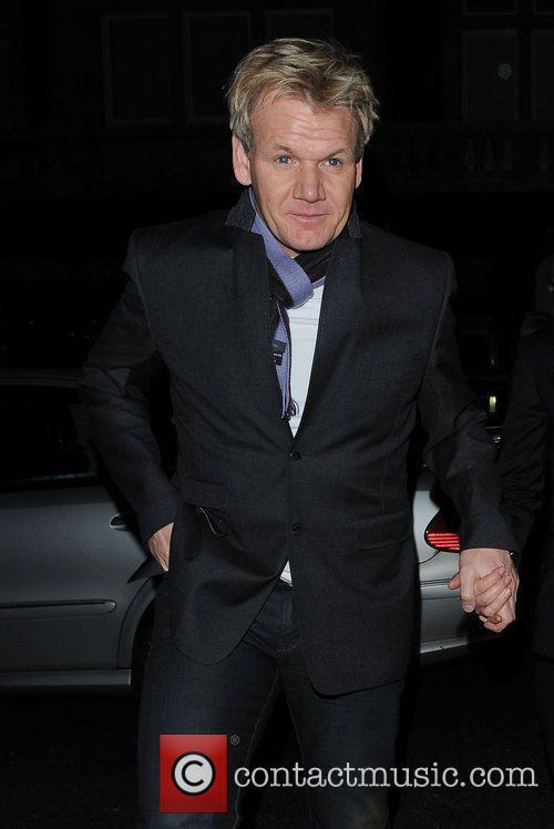 Gordon Ramsay outside Scott's restaurant London, England