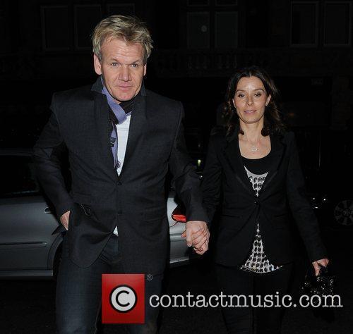 Tana Ramsay and Gordon Ramsay outside Scott's restaurant...