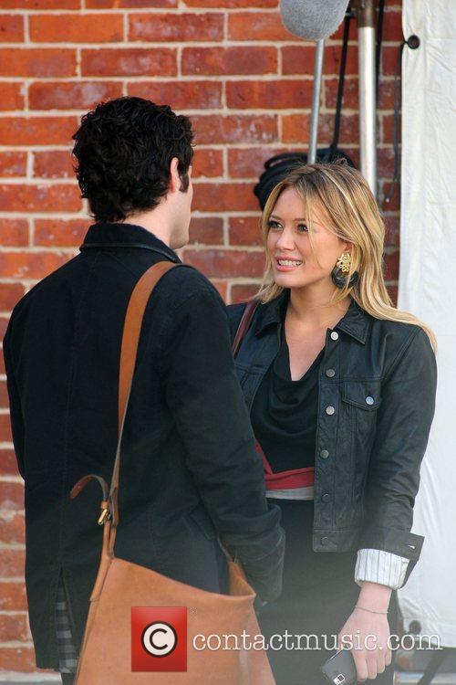 Penn Badgley and Hilary Duff 1