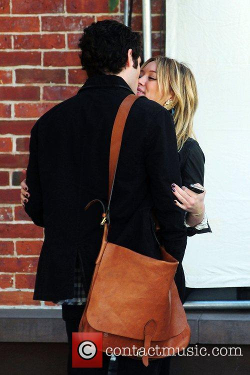 Penn Badgley and Hilary Duff 2