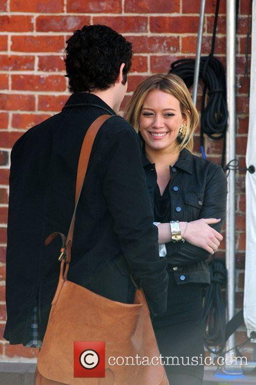 Penn Badgley and Hilary Duff 3