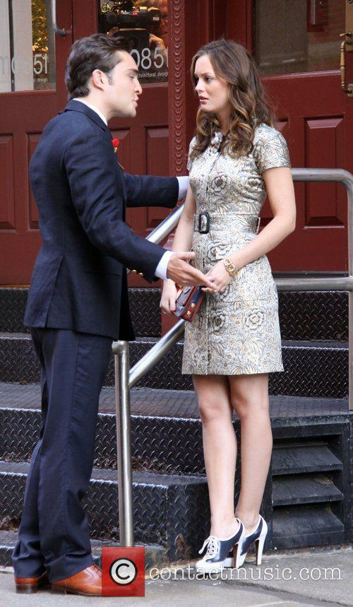 Ed Westwick and Leighton Meester 2