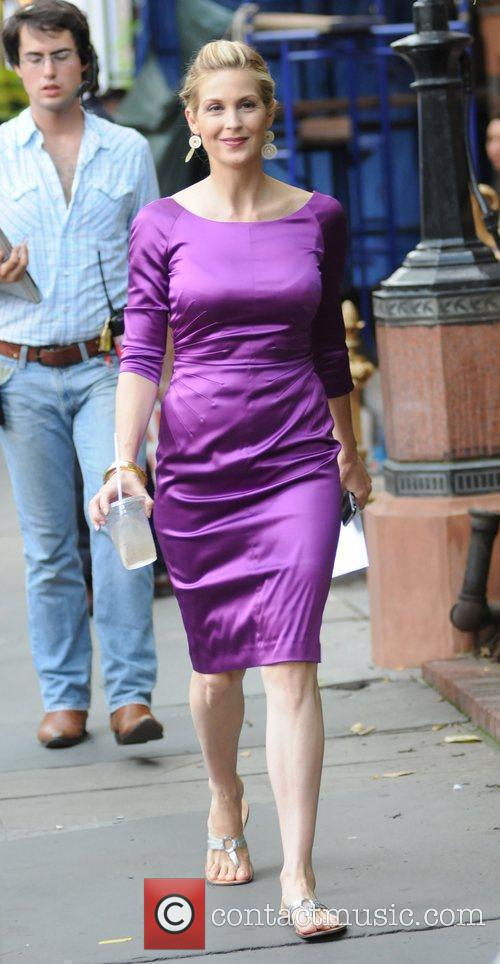 Kelly Rutherford on the set of 'Gossip Girl'