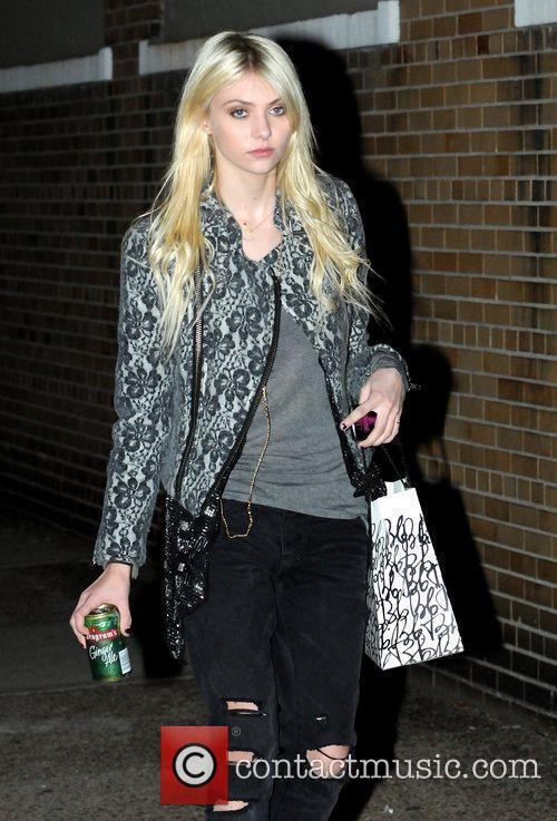 Taylor Momsen on the set of the new...