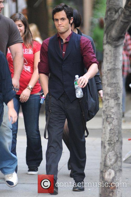 On the set of 'Gossip Girl' on location...