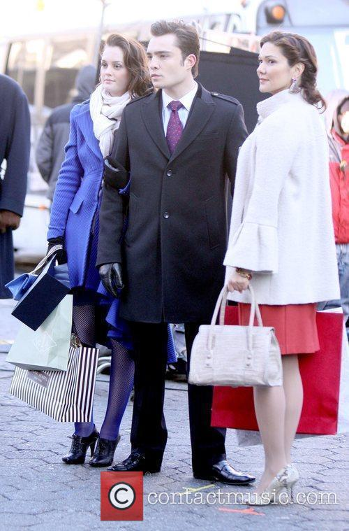 Leighton Meester, Ed Westwick and Laura Elena Harring...