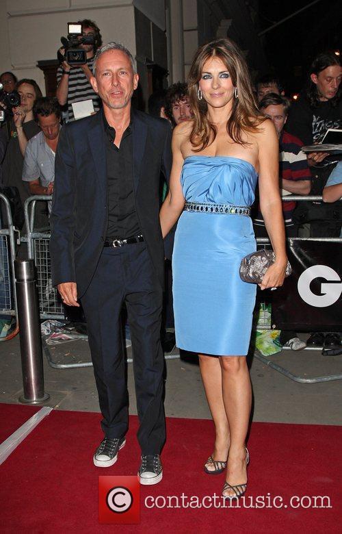 Patrick Cox and Elizabeth Hurley