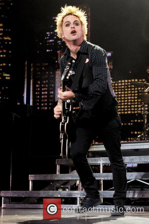 Billie Joe Armstrong Green Day performing live at...