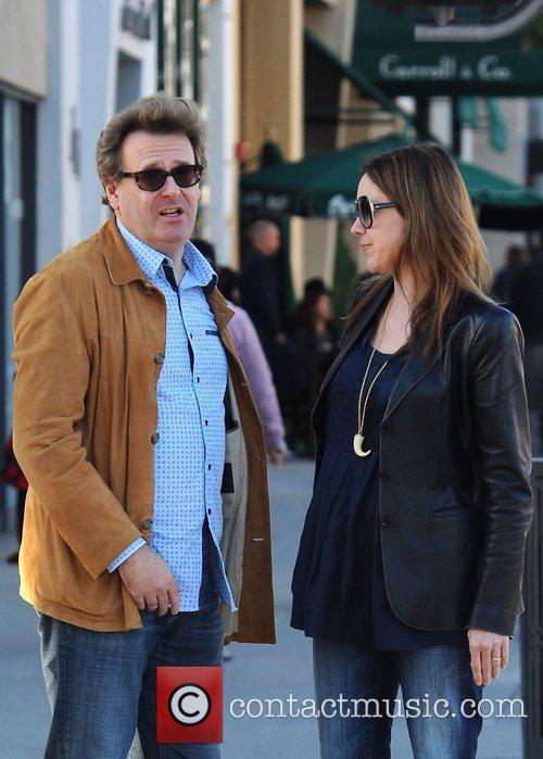 Greg Proops talks to his wife Jennifer Canaga...