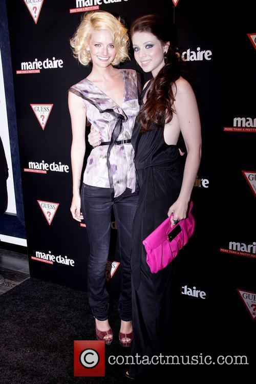 Lydia Hearst and Michelle Trachtenberg GUESS Flagship Boutique...
