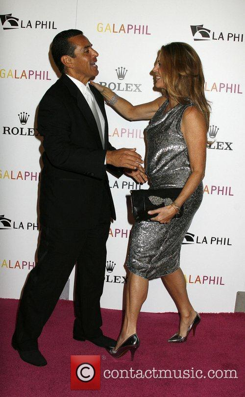 Los Angeles Mayor Antonio Villaraigosa and Rita Wilson...