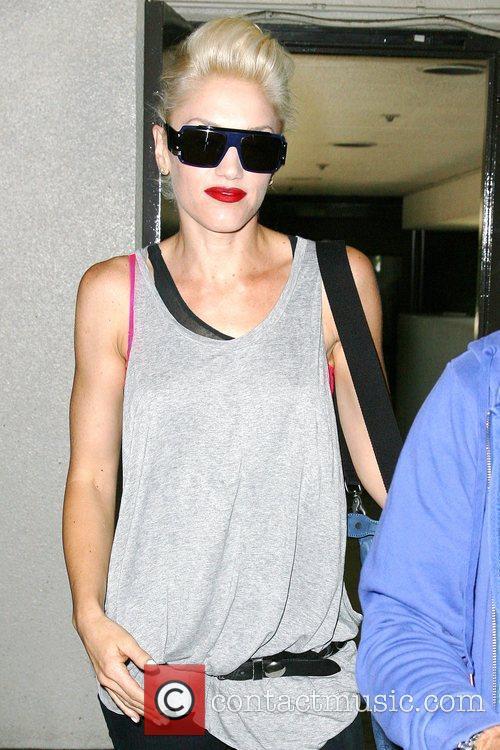 Gwen Stefani leaving Cedars-Sinai Medical Center in Beverly...