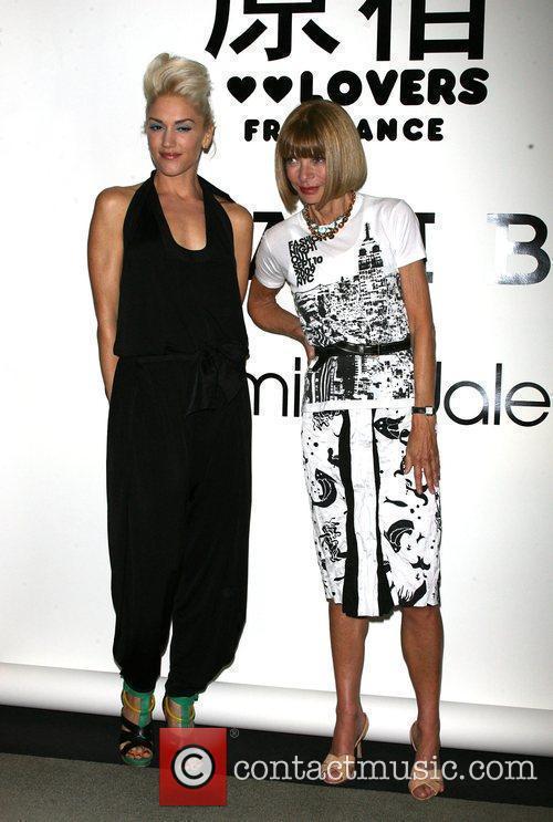 Gwen Stefani at the L.A.M.B Fashion presentation at...