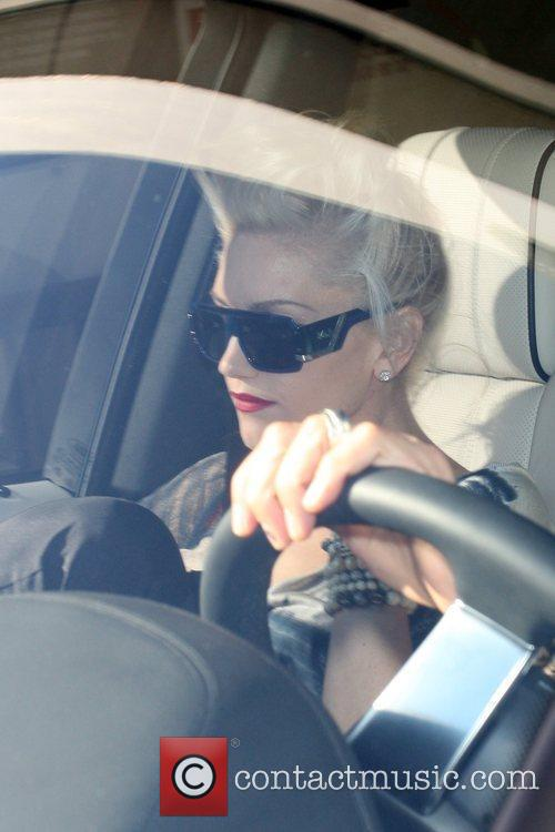 Gwen Stefani seen leaving Madeo Restaurant with her...