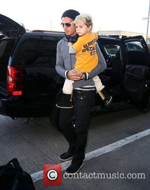 Gavin Rossdale and Kingston Rossdale at LAX airport,