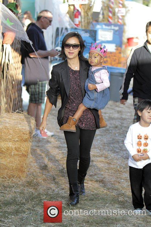 David Alan Grier and His Family Visit Mr Bones Pumpkin Patch In West Hollywood.