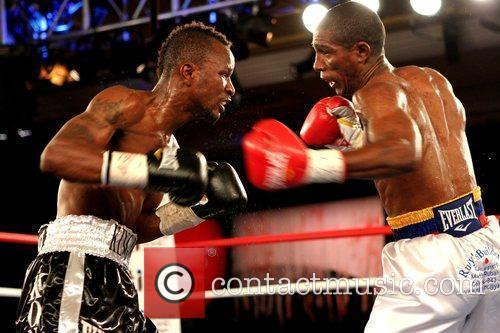 Joseph Agbeko and Yonnhy Perez competing for the...