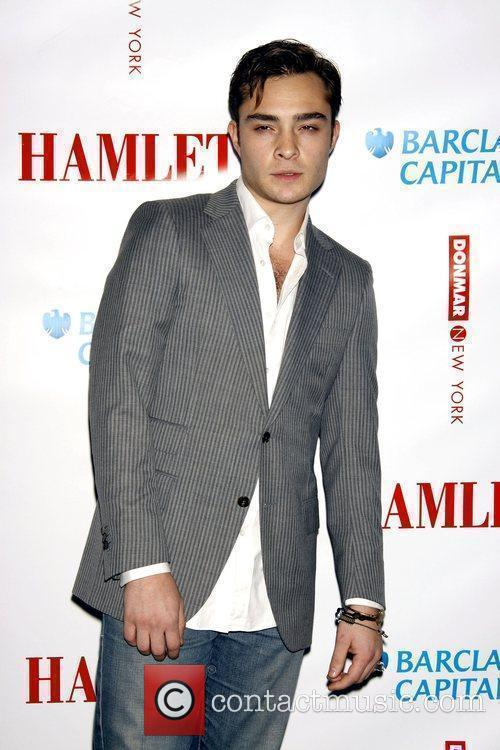 Ed Westwick attending The new Broadway production of...