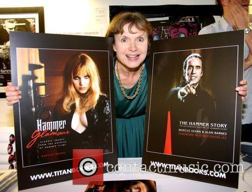 Madeline Smith The Hammer Festival private view at...