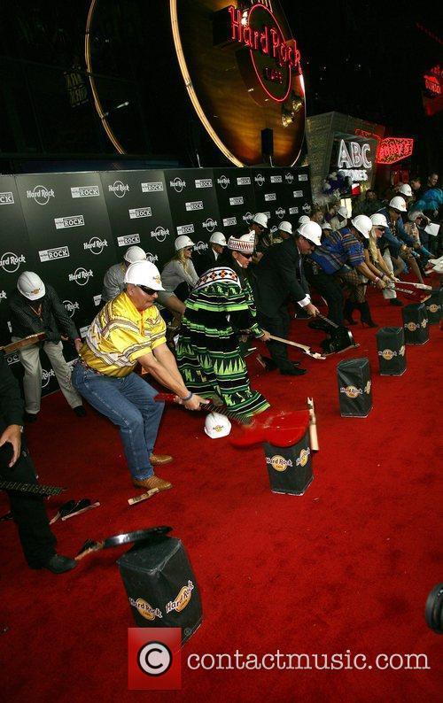Guitar smashing Grand Opening of the Hard Rock...