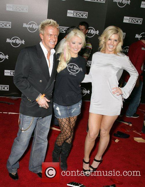 Holly Madison and Zowie Bowie Grand Opening of...