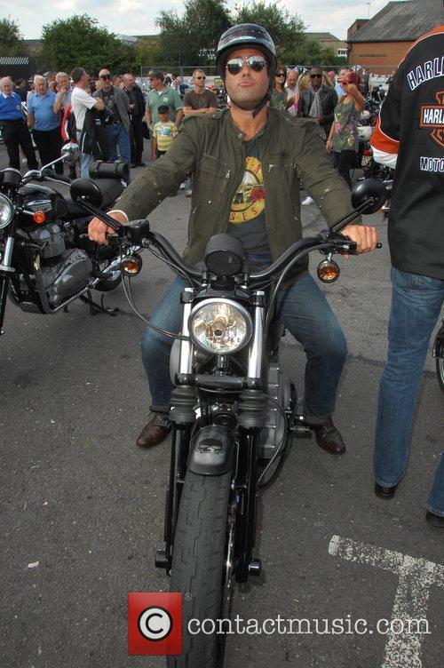 Giles Vickers Jones Harley Davidson celebrity bike ride...