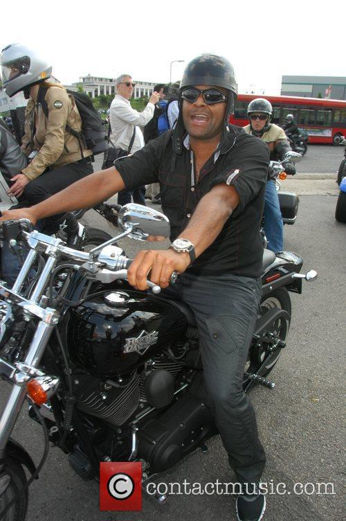 Harley Davidson celebrity bike ride London, England...