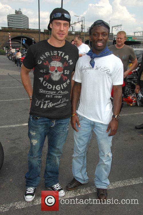 Wayne Bridge, Shaun Wright-Phillips Harley Davidson celebrity bike...
