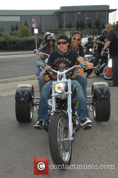 Wayne Bridge, Su-Elise Nash Harley Davidson celebrity bike...