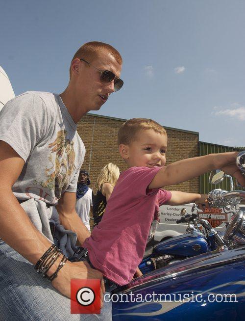 Steve Sidwell & Son Harley Davidson celebrity bike...