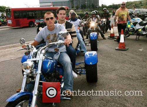 Steve Sidwell Harley Davidson celebrity bike ride held...
