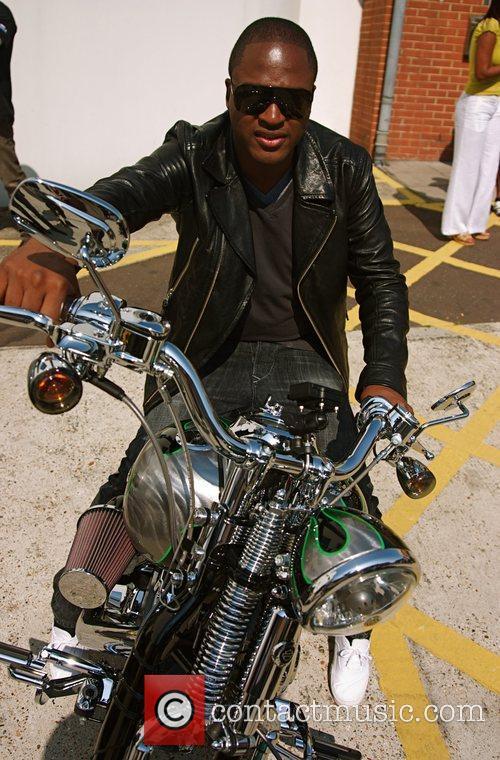 Taio Cruz Harley Davidson celebrity bike ride held...