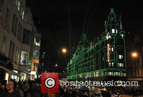 Atmosphere Harrods Christmas Lights switch on held at...