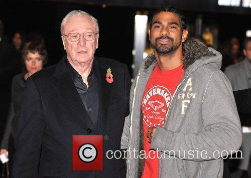 Sir Michael Caine and David Haye  The...