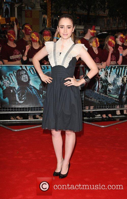 Lily Collins World Premiere of Harry Potter And...