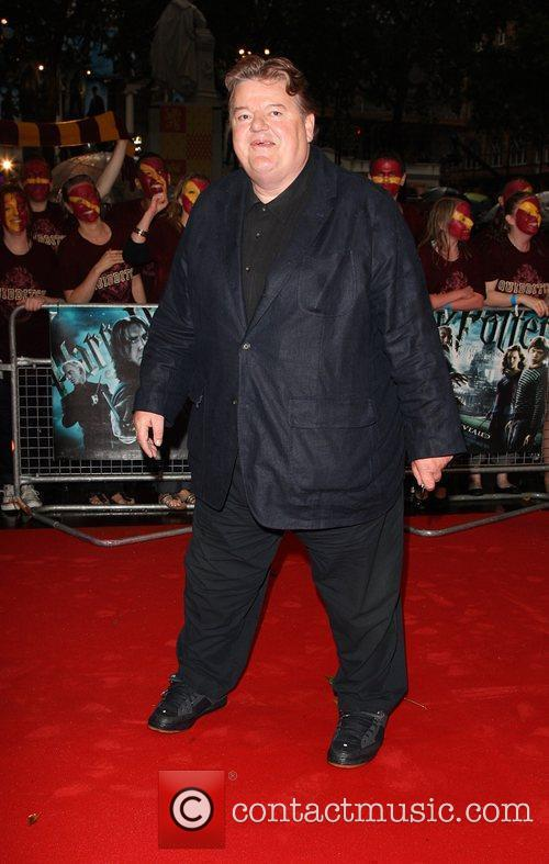 Robbie Coltrane World Premiere of Harry Potter And...