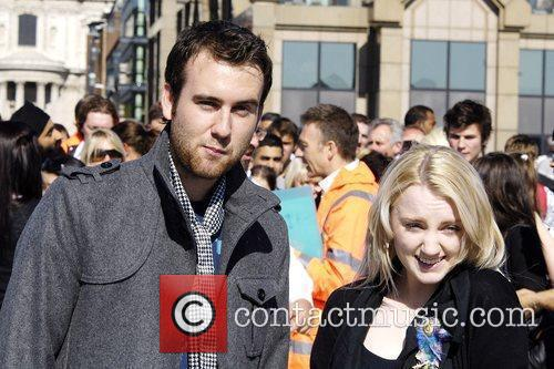Evanna Lynch, Matthew Lewis Balloon launch at the...