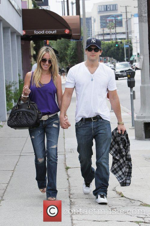 Haylie Duff and her boyfriend Nick Zano leave...