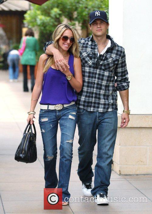 Haylie Duff and boyfriend Nick Zano shopping in...