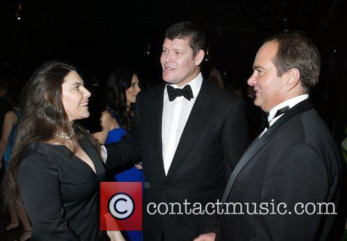 Gretel Packer and James Packer with guest The...