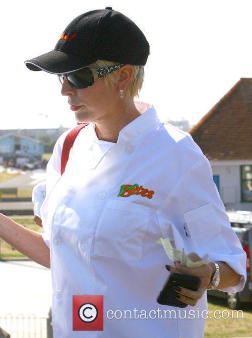 Heather Mills visits her new cafe V-Bites on...