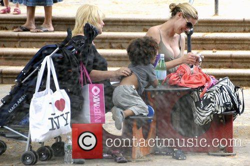 Heidi Klum with her mother, Erna Klum, and...